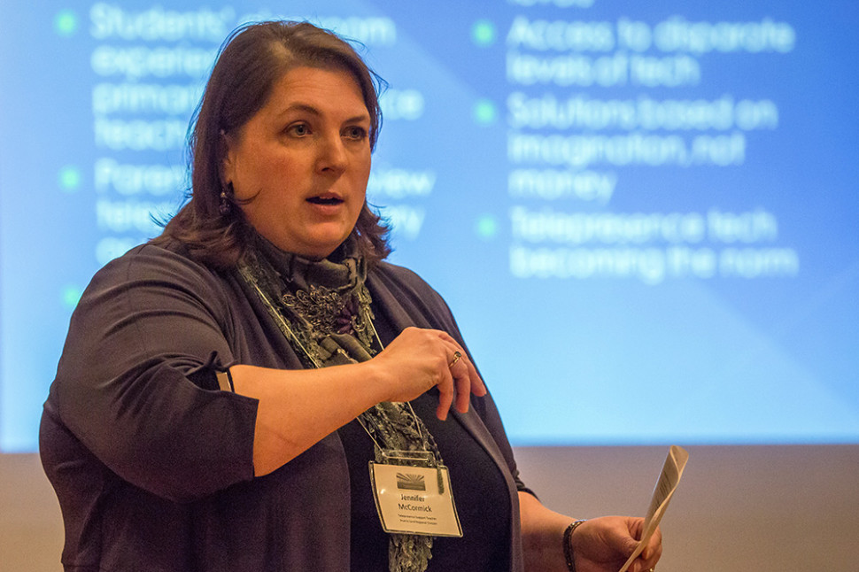 Jennifer presenting at the 2014 Rural Futures Symposium